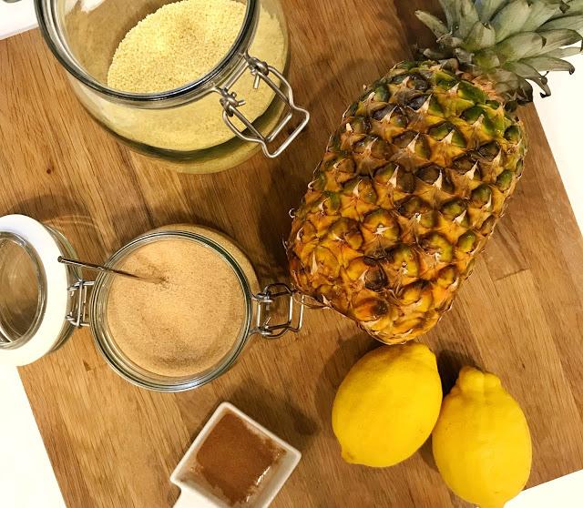 Cous Cous dolce con ananas grigliato per uno snack diverso